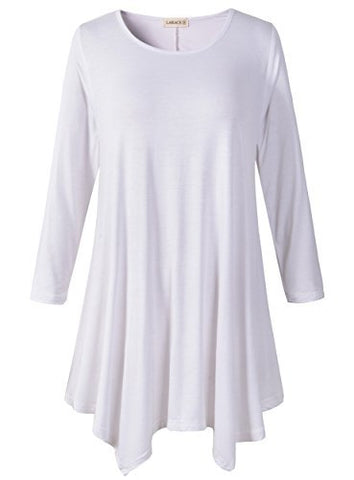 Women Plus Size 3/4 Sleeve Tunic Tops - smarttrendstore