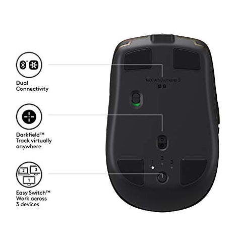 Logitech MX Anywhere 2 AMZ Wireless Bluetooth Mouse - smarttrendstore