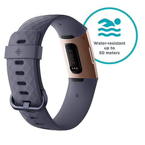 Fitbit Charge 3 Advanced Health & Fitness Tracker - Rose-Gold/Grey, One Size