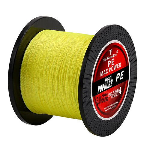 500M SeaKnight Brand Tri-Poseidon Series 4 Strands Super Strong Multifilament PE Braided Fishing Line