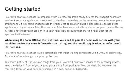 Polar H10 Heart Rate Monitor, Bluetooth HRM Chest Strap - smarttrendstore