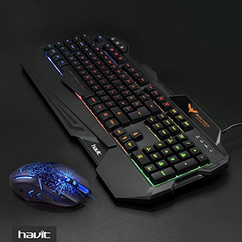 Rainbow LED Gaming Keyboard and Mouse Combo Set - smarttrendstore