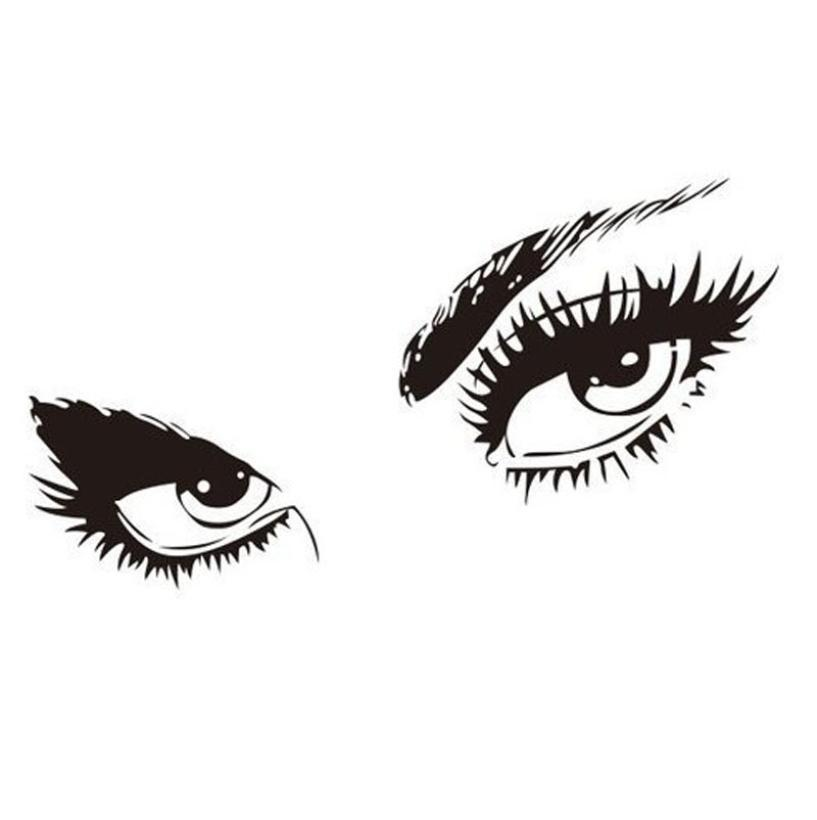 Audrey Hepburn Style Eyes Silhouette Wall Decals
