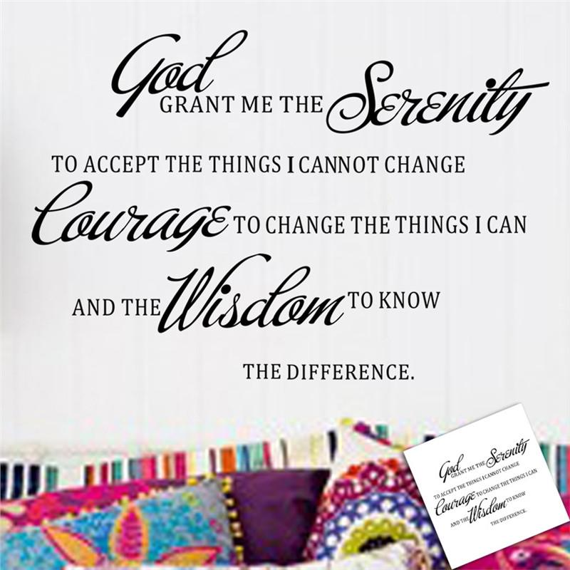 God Grant Me Serenity Prayer Quote Wall Decal
