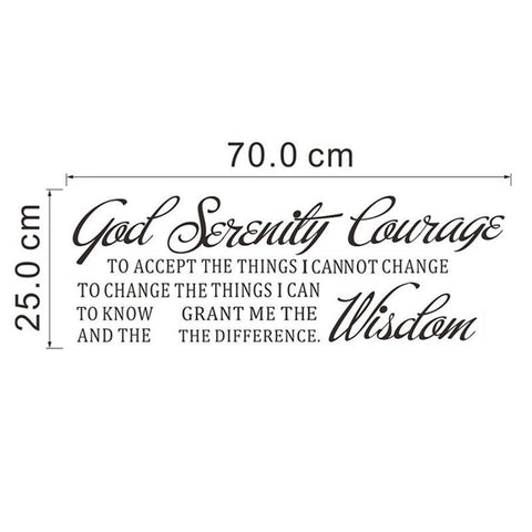 God Grant Me Serenity Prayer Quote Wall Decal - smarttrendstore