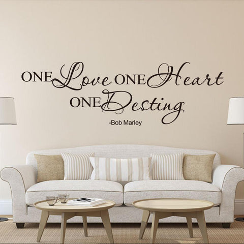 Hand Written One Love Quote Wall Art Decal - smarttrendstore