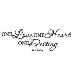 Hand Written One Love Quote Wall Art Decal