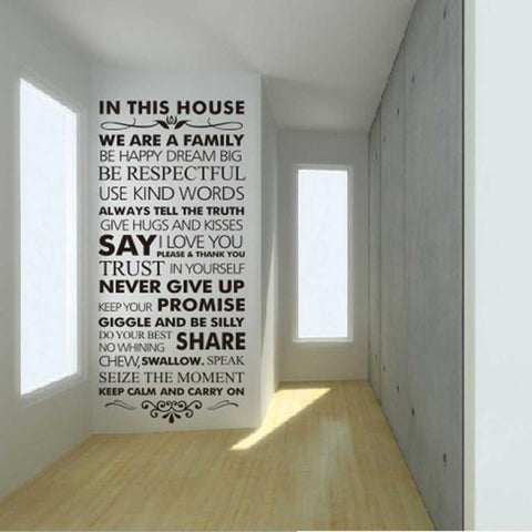 House Rules Quote Wall Art Decal - smarttrendstore