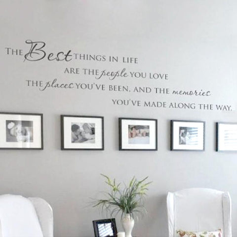 The Best Things In Life Vinyl wall decals - smarttrendstore