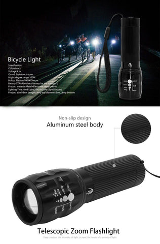 Waterproof Bicycle Light Lumens 3 Mode's With Holder - smarttrendstore