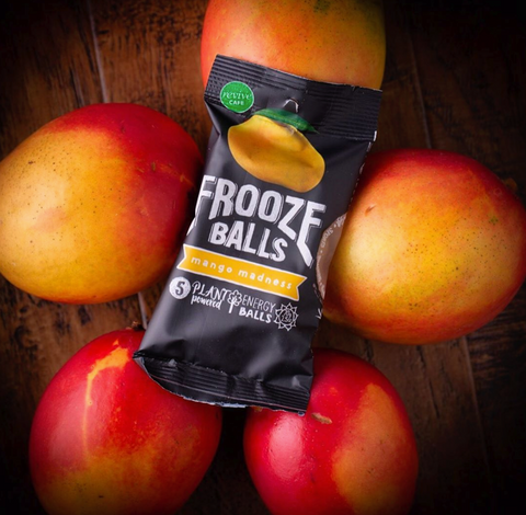 Frooze Balls Mango Madness Non-GMO Plant-based energy snacks