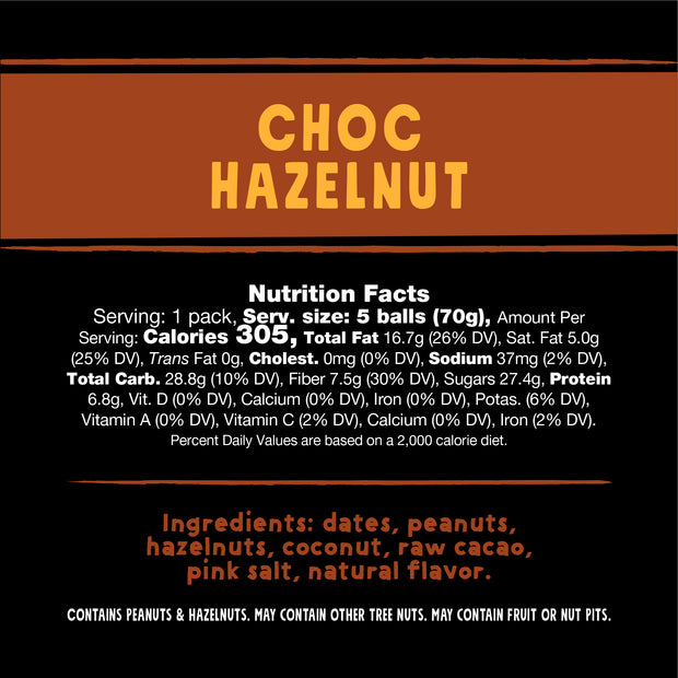 Choc Hazelnut – 1 pack