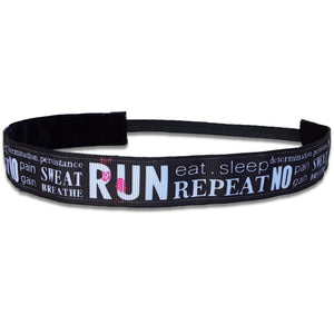 Run Eat Sleep Repeat - Bellabandz - Women's Headband