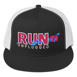 Run Unplugged - High Profile Trucker Hat