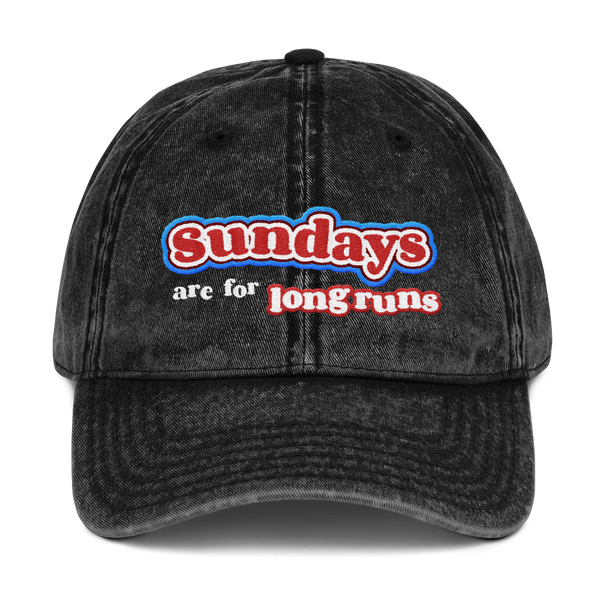 Sundays Are For Long Runs - Cotton Twill Cap
