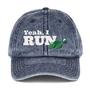 Yeah, I Run Running Turtle - Cotton Twill Cap