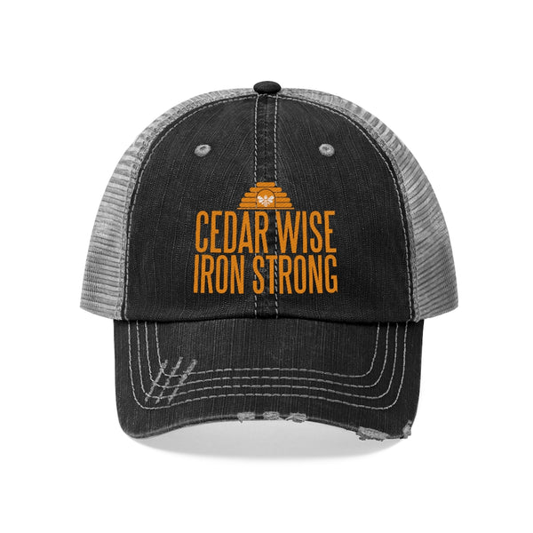 Cedar Wise Iron Strong - Unisex Trucker Hat