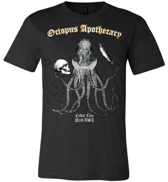 Octopus Apothecary - The Bard - Canvas Unisex T-Shirt