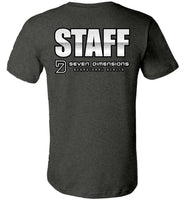 Seven Dimensions - Staff, titled on back - Canvas Unisex T-Shirt
