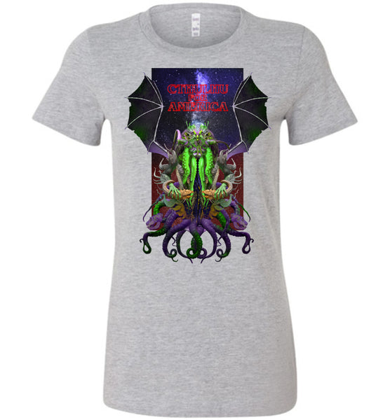 Warlock: CTHULHU FOR AMERICA - Bella Ladies Favorite Tee
