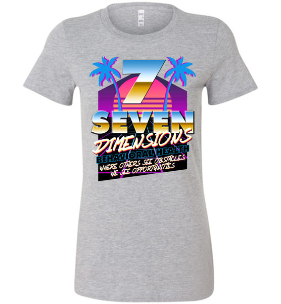 Seven Dimensions - Kelsey, New Retro - Bella Ladies Favorite Tee