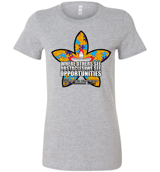 Seven Dimensions - Liat, Flower - Bella Ladies Favorite Tee
