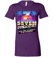 Seven Dimensions - Katie, New Retro - Bella Ladies Favorite Tee