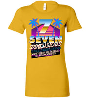 Seven Dimensions - Corinne, New Retro - Bella Ladies Favorite Tee