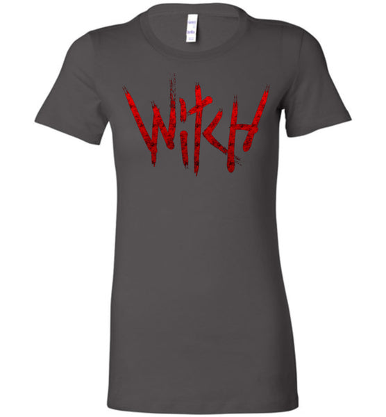 Witch - Red Text Ladies Favorite Tee