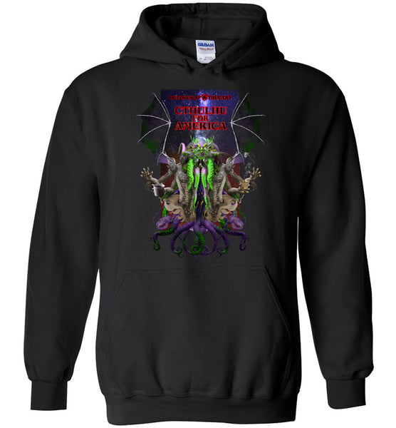 Octopus Apothecary: CTHULHU FOR AMERICA - Gildan Heavy Blend Hoodie