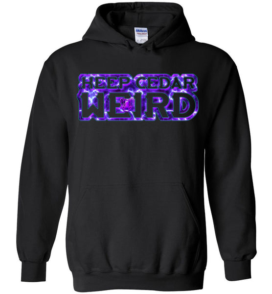 Octopus Apothecary: Keep Cedar Weird Gildan Heavy Blend Hoodie - Purple