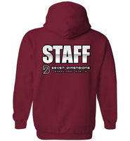 Seven Dimensions - Staff, titled on back - Gildan Heavy Blend Hoodie