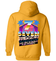 Seven Dimensions - New Retro Miami - Gildan Heavy Blend Hoodie