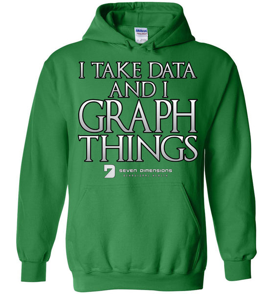 I Take Data & I Graph Things - Gildan Heavy Blend Hoodie