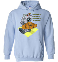 Rick Roll with Lyrics - Heavy Blend Hoodie