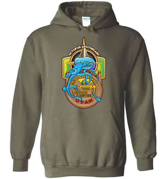 Octopus Apothecary - Nautical - Gildan Heavy Blend Hoodie