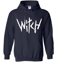 Witch - White Text Heavy Blend Hoodie