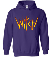Witch- Fire Text Heavy Blend Hoodie
