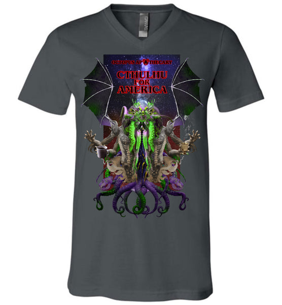 Octopus Apothecary: CTHULHU FOR AMERICA - Canvas Unisex V-Neck T-Shirt