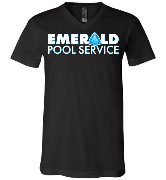 Emerald Pool Service - Canvas Unisex V-Neck T-Shirt