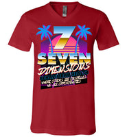 Seven Dimensions - Corinne, New Retro - Canvas Unisex V-Neck T-Shirt