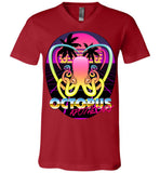 Octopus Apothecary - New Retro Wave - Canvas Unisex V-Neck T-Shirt