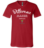 EIFC - Difference Maker - Canvas Unisex V-Neck T-Shirt