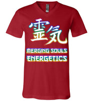 Merging Souls Energetics: Canvas Unisex V-Neck T-Shirt