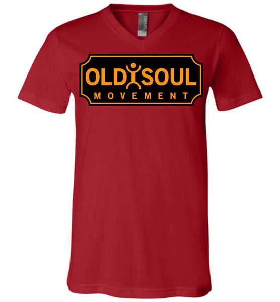 Old Soul Movement: Boiler - Canvas Unisex V-Neck T-Shirt