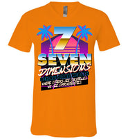 Seven Dimensions - Emi, New Retro - Canvas Unisex V-Neck T-Shirt