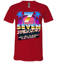 Seven Dimensions - Emily, New Retro - Canvas Unisex V-Neck T-Shirt
