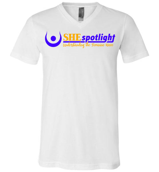 SHE Spotlight - Canvas Unisex V-Neck T-Shirt