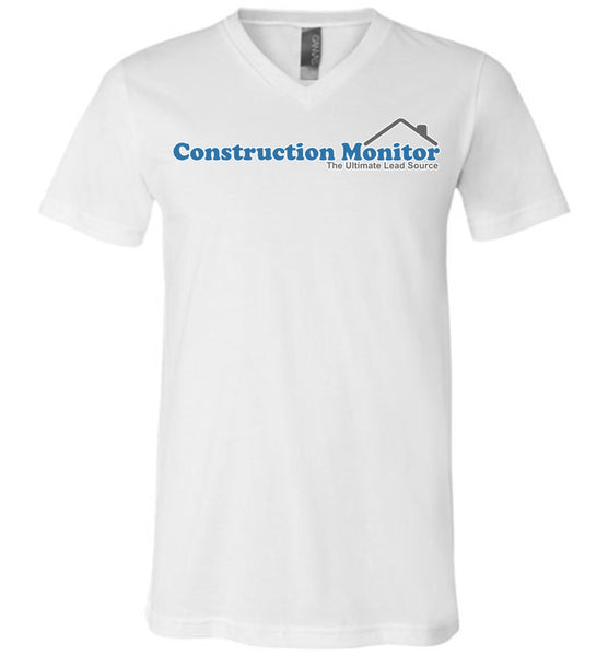 Construction Monitor - Canvas Unisex V-Neck T-Shirt