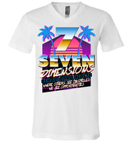 Seven Dimensions - Courtney, New Retro - Canvas Unisex V-Neck T-Shirt
